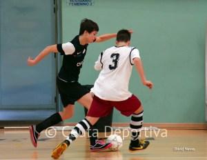 Imagen de un partido de la pasada temporada, en la que el Ciudad de Ceuta FS acabó tercero