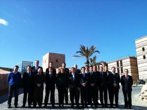 Foto de familia de los asistentes a la Conferencia Interterritorial del Deportes celebrada en Lorca, con Luis Márquez Salinas el cuarto por la derecha