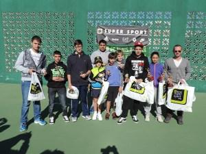 La entrega de trofeos se celebró en las pistas del club de Tenis y Pádel Loma Margarita
