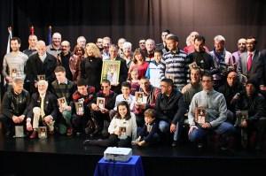 Foto de familia de los premiados en la Guía del Corredor del año pasado