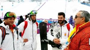 Regino Hernández junto al presidente del Comité Olímpico Español (COE) Alejandro Blanco