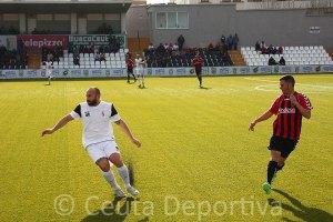 Pepe Martínez jugó de lateral derecho en el partido ante la Lebrijana