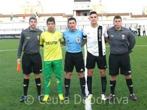 Arias Madrid sólo pitó esta temporada el derbi de Liga Nacional Juvenil entre el Goyu y el Ceutí