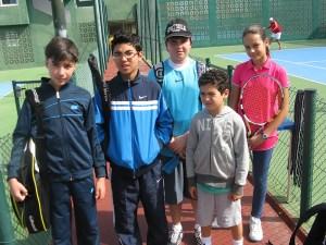 Los más pequeños también tuvieron protagonismo en las pistas del club de Tenis y Pádel Loma Margarita