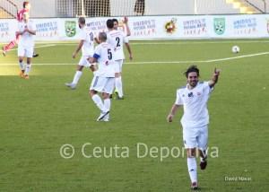 Villatoro celebra uno de los goles que marcó la temporada pasada