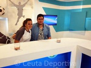 Paloma Bernal y Paco Molina, ayer en el programa 'Club Deportivo' de RTVCE
