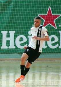 Ismael, durante el partido del pasado sábado en el 'Guillermo Molina'