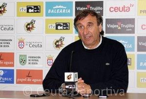 José Antonio Asián, este sábado en la sala de prensa del Alfonso Murube
