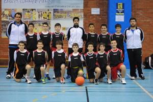 Selección de Ceuta minibasket masculina que participa este año en el Campeonato de España