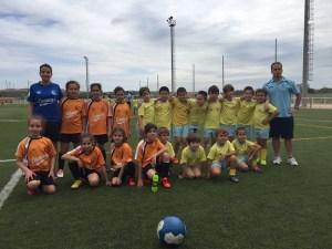 Prebenjaminas con equipo de la EMF Algeciras