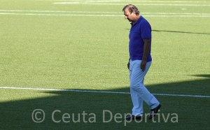 José Antonio Asián, en su etapa como entrenador de la AD Ceuta FC