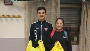 Antoñito Cano e Isabel Martín, ganadores del Torneo 'El Pavo' del CP José Zurrón