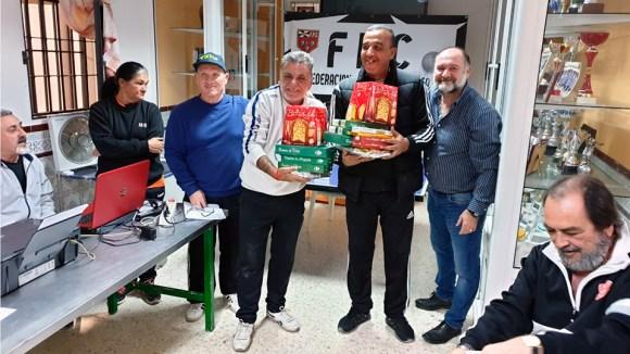 Un momento de la entrega de premios del Torneo Navideño El Mazapán