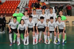 Los cadetes de Ceuta, antes de medirse a Murcia