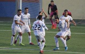 Jugadores del Ceuta celebran un gol esta temporada