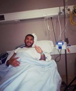 Jalid, poco después de la operación