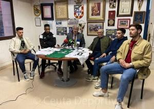 Un momento de la rueda de prensa celebrada este jueves en la sede de la UA Ceutí