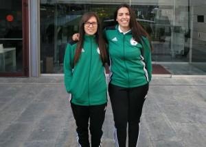Las dos árbitras ceutíes, en Madrid / Foto: FFCE