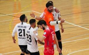 Jugadores del Ceutí celebran un gol en un partido de la pasada temporada