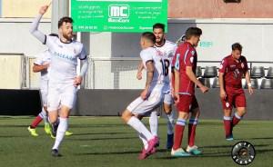 David Castro celebra su primer gol ante el Arcos