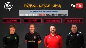 Cartel anunciador de la tercera tertulia de 'Fútbol desde Casa', organizada por la FFCE