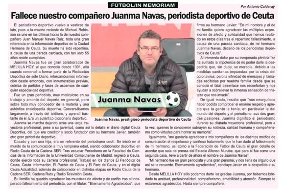 Artículo dedicado por Antonio Calderay a su amigo y compañero Juanma Navas