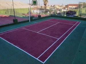 Pista de 'touchtennis' en el Club de Tenis Ceuta