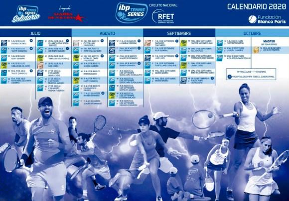 Nuevo calendario de torneos del IBP Tenis Series 2020