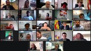 Una imagen de la reunión telemática entre el ministro de Cultura y Deporte y los responsables del deporte en las comunidades autónomas