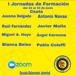 Cartel anunciador de las Jornadas de la Escuela de Baloncesto Juventud