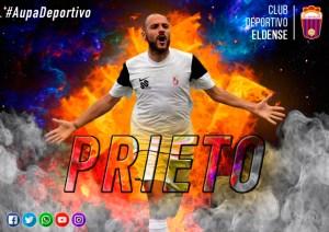Imagen con la que el CD Eldense ha anunciado el fichaje de Prieto
