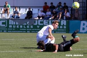Álex Sánchez, en un partido con la AD Ceuta FC