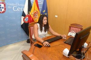 Lorena Miranda, durante la reunión telemática con el ministro