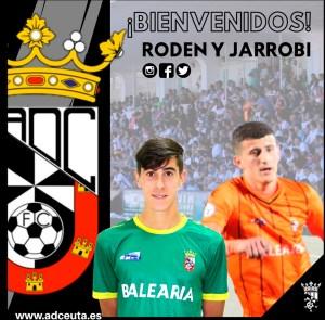 Rodín y Jarrobi suben a la primera plantilla del Ceuta de cara a la próxima temporada
