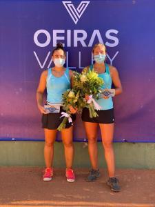 Olga Parres y Franscisca Jorge, con sus trofeos de subcampeonas