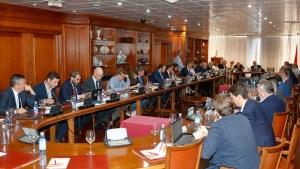 Imagen de la reunión mantenida este lunes por Luis Rubiales con los presidentes de las Territoriales
