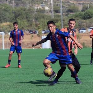 Aisar, durante un partido con el Levante juvenil