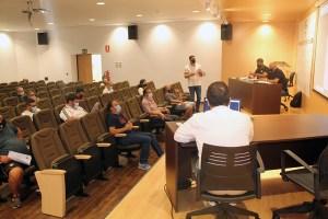 Un momento de la reunión de este martes en la sede de la Federación de Fútbol de Ceuta / Foto: FFCE