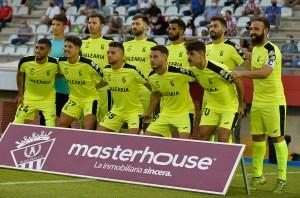 Formación de la AD Ceuta FC en su amistoso de esta pretemporada en Algeciras