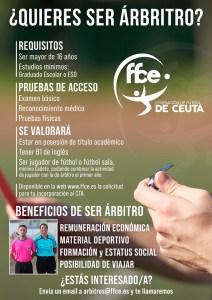 Cartel anunciador de la campaña del Comité de Árbitros de la FFCE