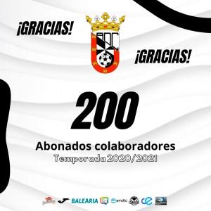 El Ceuta ha agradecido en las redes sociales haber alcanzado la cifra de 200 abonados colaboradores