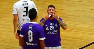 Saúl Olmo marcó el primer gol en Rivas y fue expulsado en la segunda parte