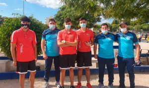 El joven equipo del CP José Zurrón se ha garantizado la medalla de bronce en el Nacional de Dupletas