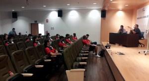 Los integrantes del Puerto, este jueves en la Ciudad del Fútbol de Ceuta / Foto: FFCE