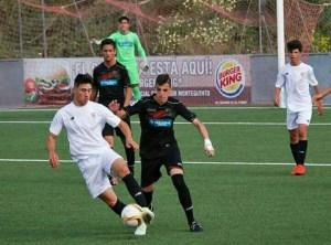 David Barrios, en un partido con el Sevilla juvenil