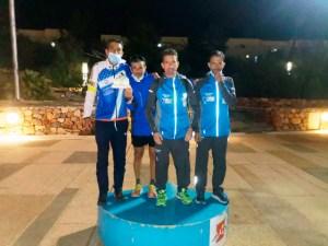 Los componentes de Interclubs de Ceuta, en el podio