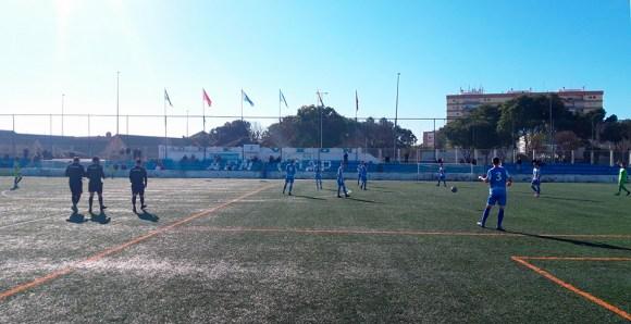 Nervión y Polillas, a punto de empezar su partido en el 'Antonio Puerta'