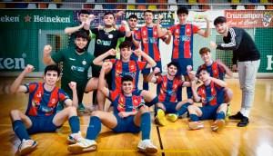 Los jugadores del CD Puerto celebran su triunfo en el derbi ante el Deportivo Ceutí