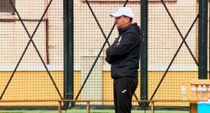 José Juan Romero, entrenador de la AD Ceuta FC, este jueves en el José Martínez 'Pirri'