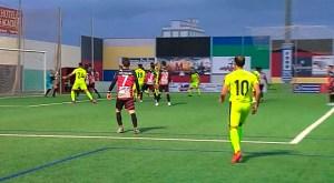 La jugada del gol del Ceuta en el 'Manuel Polinario'